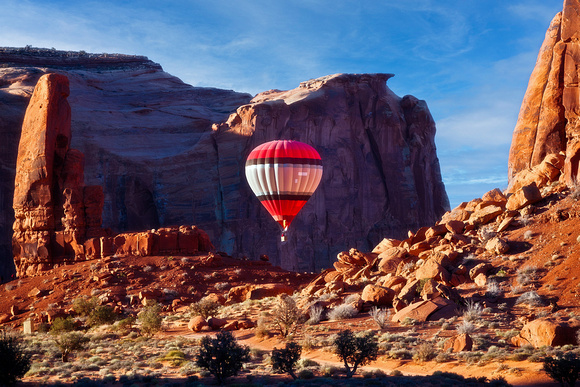 Floating Over Monument Valley